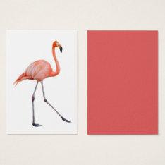 Flamingo Business Card at Zazzle
