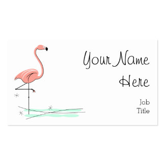 Flamingo business card side text