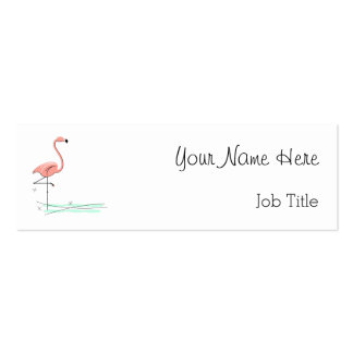 Flamingo business card side text skinny
