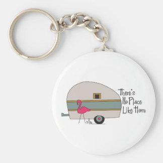 Flamingo Camper Keychain