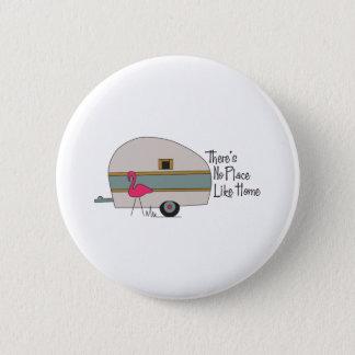 Flamingo Camper Pinback Button