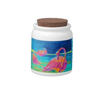 Flamingo candy jar