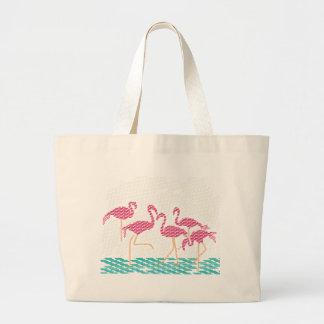 flamingo canvas bags