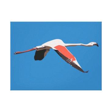Art Themed Flamingo Canvas Print