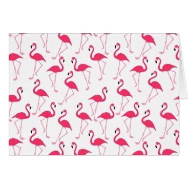 Beach Themed Flamingo Card