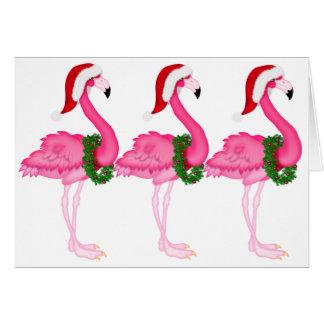 Flamingo Christmas Card - SRF