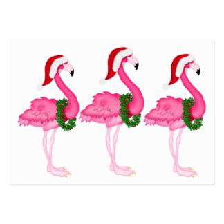 Flamingo Christmas Enclosure Card / Tag