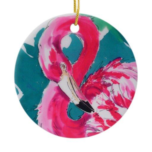 Flamingo Christmas Ornament | Zazzle