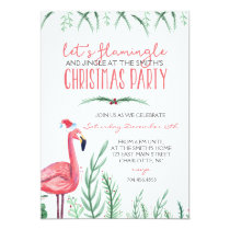Flamingo Christmas Party Invitation