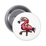 Flamingo Chrsitmas 2 Inch Round Button