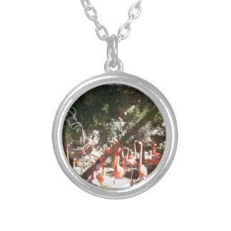 Flamingo Clan Silver Plated Necklace