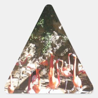 Flamingo Clan Triangle Sticker