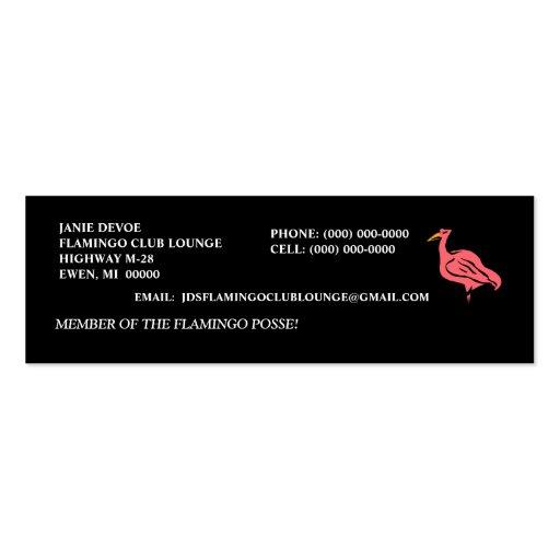 FLAMINGO CLUB POSSE YARD ART PROFILE BUSINESS CARD