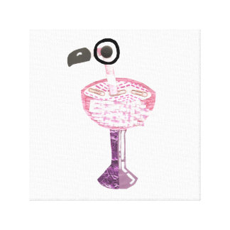 Flamingo Cocktail Canvas