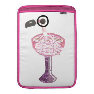 Flamingo Cocktail No Background Macbook Sleeve