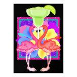 Flamingo Cocktail - SRF 5x7 Paper Invitation Card