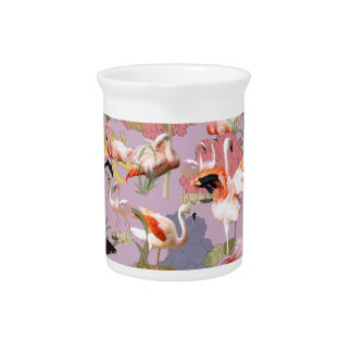 Flamingo Collage Pitcher