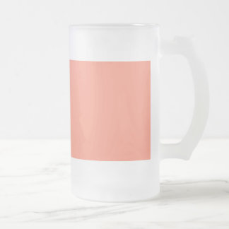 Flamingo Coral Peach Melon-Uptown Girl-Designer Frosted Glass Beer Mug
