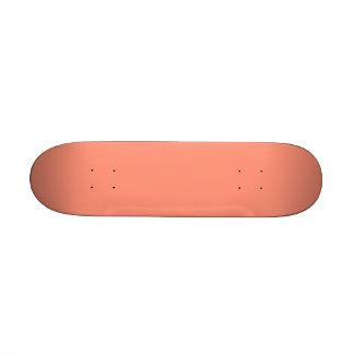 Flamingo Coral Peach Melon-Uptown Girl-Designer Skate Board Decks