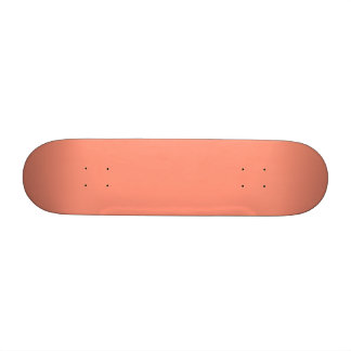 Flamingo Coral Peach Melon-Uptown Girl-Designer Skateboard