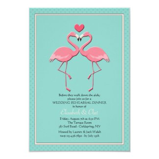 Flamingo Couple Invitation