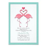 Flamingo Couple You Pick Color Invitation
