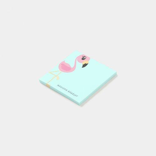Flamingo Cute Tropical Kids Post-it Notes