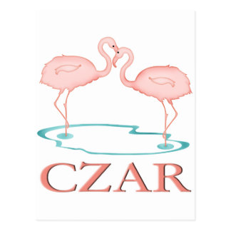 Flamingo Czar Postcard
