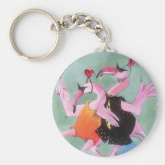 Flamingo Dance Keychain