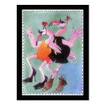 Flamingo Dance Postcards
