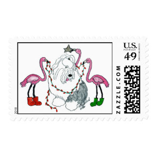 Flamingo Decorators Postage Stamp