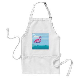 Flamingo Design Adult Apron