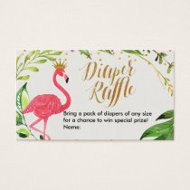 Flamingo - Diaper Raffle Card