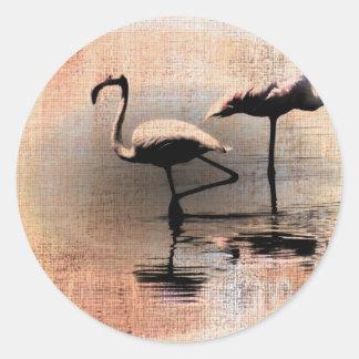 Flamingo Dreams Classic Round Sticker