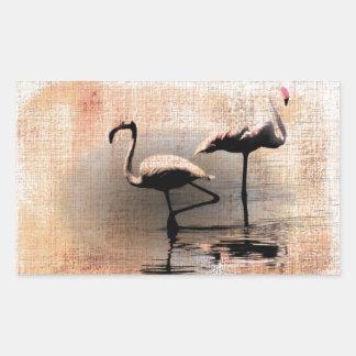 Flamingo Dreams Rectangular Sticker