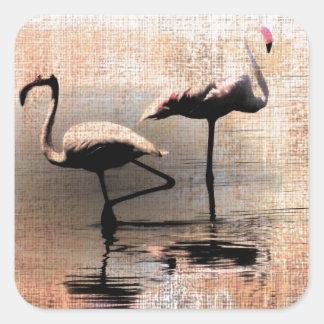 Flamingo Dreams Square Sticker