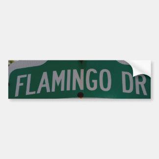 Flamingo Drive Bumper Sticker Car Bumper Sticker