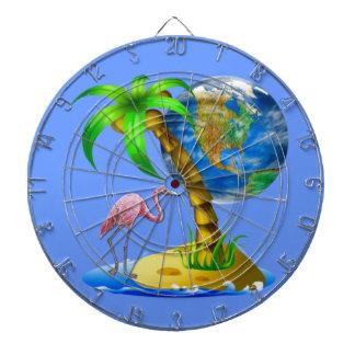 Flamingo Earth Dartboard