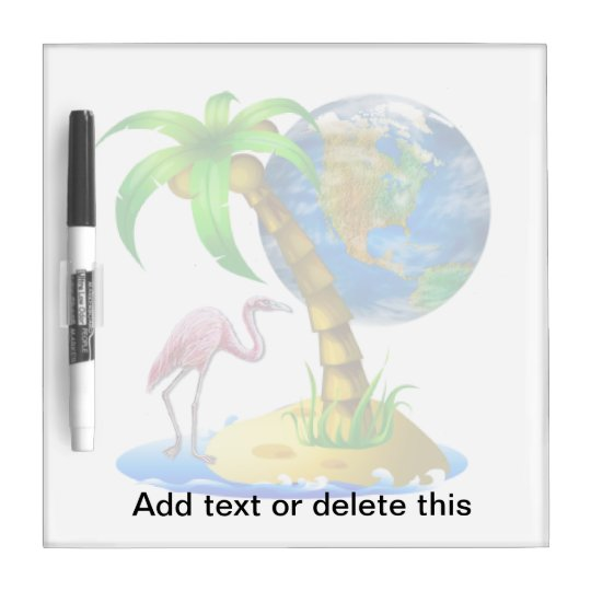 Flamingo Earth Dry Erase Board