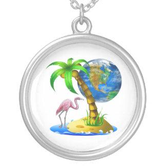 Flamingo Earth Pendant