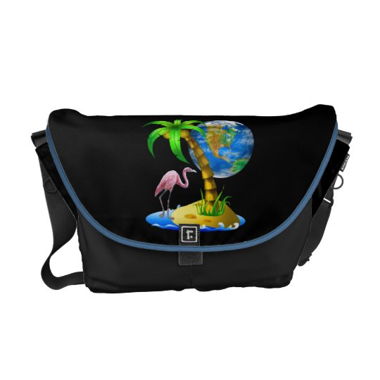 Flamingo Earth Rickshaw Messenger Bag