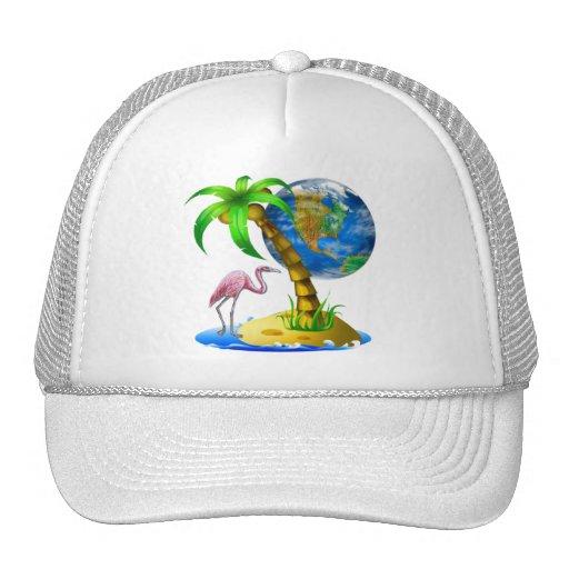 Flamingo Earth Trucker Hat