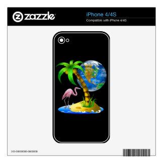 Flamingo Earth Zazzle Skin iPhone 4 Decal