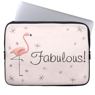 Flamingo Fabulous! laptop sleeve