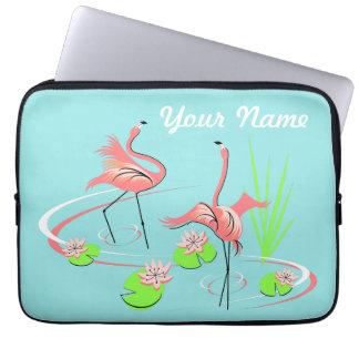 Flamingo Fandango Duo 2 Name laptop sleeve