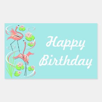 Flamingo Fandango Slim Duo Happy Birthday sticker