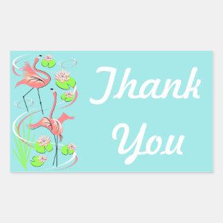 Flamingo Fandango Slim Duo Thank You sticker