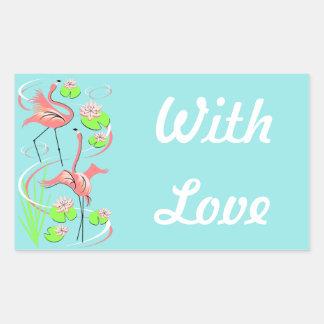 Flamingo Fandango Slim Duo With Love sticker