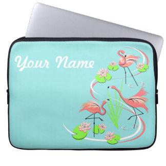 Flamingo Fandango Trio Name laptop sleeve