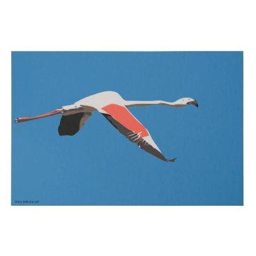 Art Themed Flamingo Faux Canvas Print